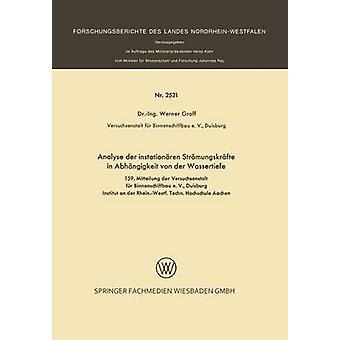 Analyse der instationren Strmungskrfte in Abhngigkeit von der Wassertiefe by Graff & Werner