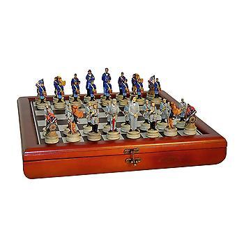 Civil War Generals Chess Set in Chest