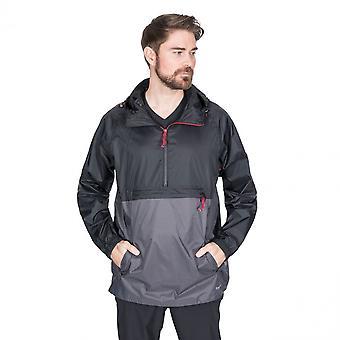 Trespass Mens Gusty Packaway Waterproof Half Zip Jacket