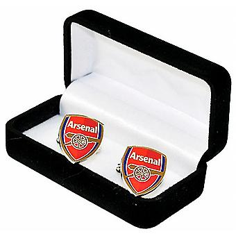 Arsenal FC Crest Cufflinks in presentation box (spg)