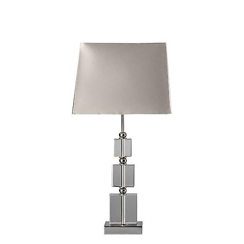 Dar PUL4050 Pullman Crystal Glass Table Lamp Complete With Shade