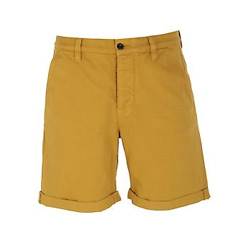 Nudie Jeans Co Luke Cotton Twill Yellow Shorts