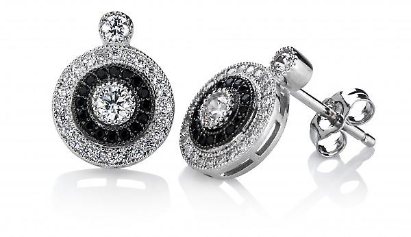 Cavendish French Elegant Silver and CZ Evening Earrings
