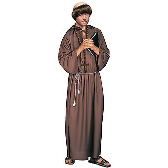 Biblical Monk Robe Medieval Robin Hood Friar Tuck Priest Religious Mens Costume