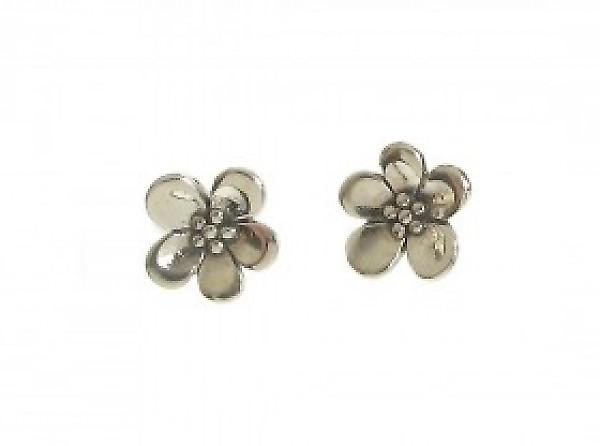 Cavendish français Sterling Silver Simple Forget-me-not Boucles d'oreilles