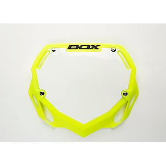 Box Phase 1 Number Plate Fluro Yellow