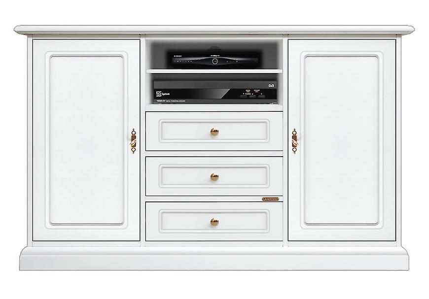 Porta tv alto bianco in legno