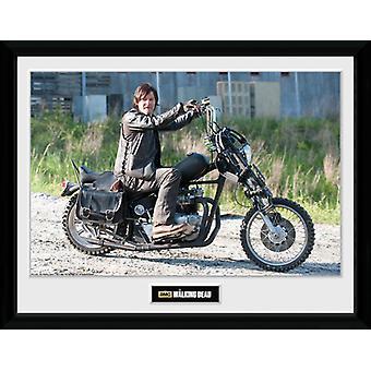 The Walking Dead Daryl Bike Framed Collector Print 40x30cm
