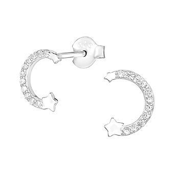 Star - 925 Sterling Silver Cubic Zirconia Ear Studs - W38969X