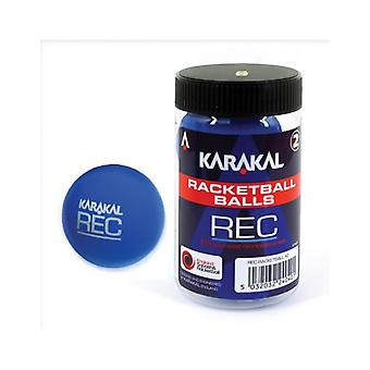 Karakal Recreation Ball Blue Squash Court Gummi Racketball Wanne - Packung mit 2