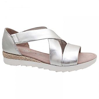 Gabor Promise Close Back Flat Sandal Silver