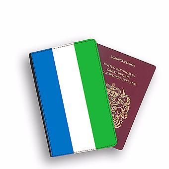 SIERRA LEONE Flag Passport Holder Style Case Cover Protective Wallet Flags design