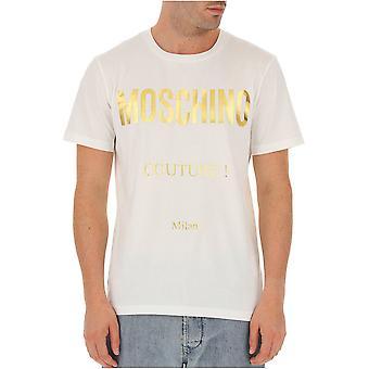 Tee Shirt Cotton Golden Logo Zj0707 - Moschino