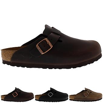 Womens Birkentstock Boston Oiled Leather Holiday Sandals Casual Clogs