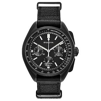 Bulova Mens specialutgåvan Lunar Pilot Chronograph 98A186 klocka