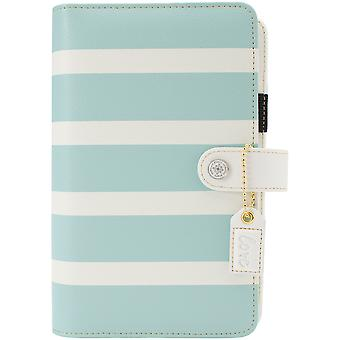 Couleur Crush Personal Planner Stripe Kit-Teal & blanc CCPK001-TW