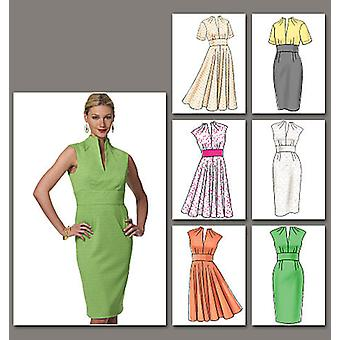 Misses' Dress  6  8  10  12 Pattern V8633  Aa0