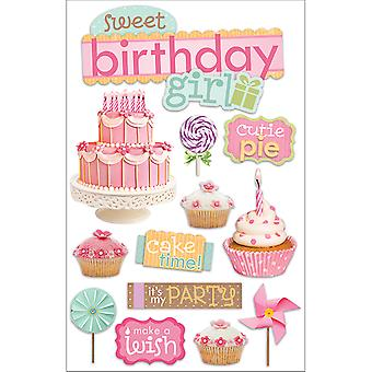 Paper House 3 D Sticker Sweet Birthday Girl Stdm181e