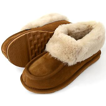 Snugrugs Ladies Sheepskin Slipper Boot Wool Cuff