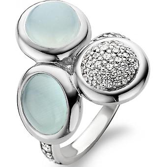 Ring van Ti Sento 12013AG - ring groen water Strass vrouw