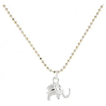 Silver Plated Indian Elephant Pendant Necklace Chain