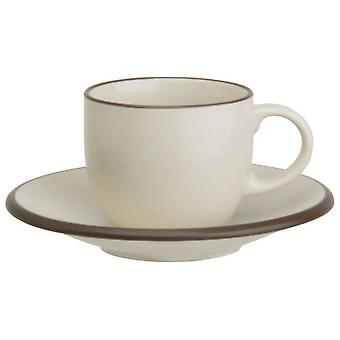 Avet Coffee Tea With 280 Ml Plate Set of 6