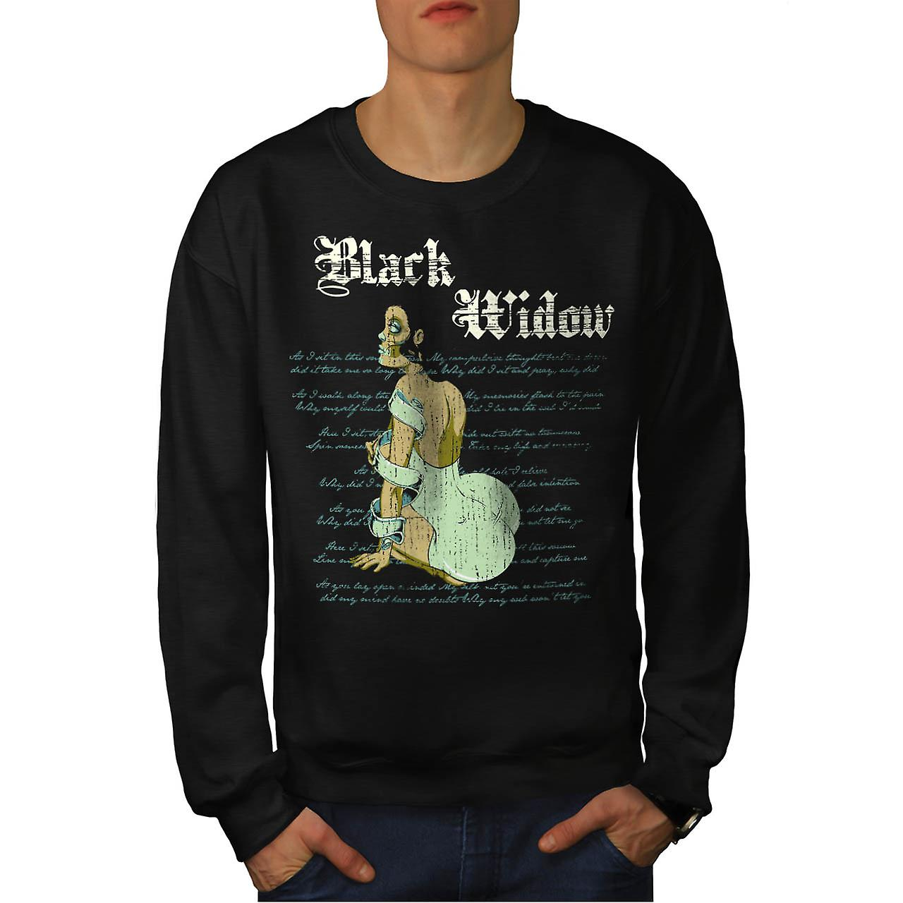 Black Widow Dress Spider forbannelse menn svart Sweatshirt | Wellcoda