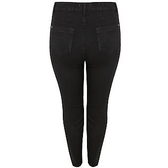 Black Skinny Jeans With Double Zip Detail