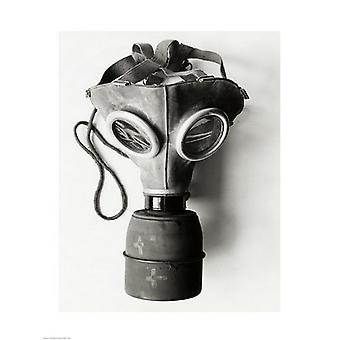 Primo piano di una stampa di Poster di maschera antigas (18 x 24)