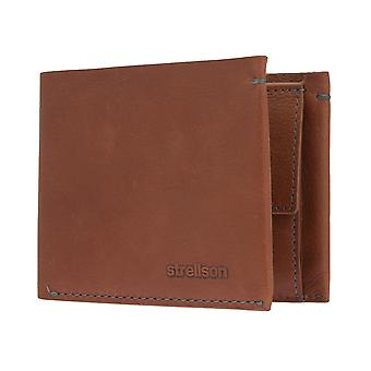 STRELLSON mens wallet portefeuille purse cognac