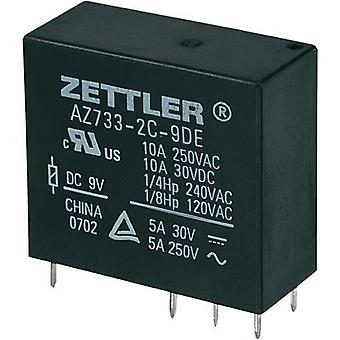 Zettler Electronics AZ733-2C-12DE Miniature PCB Mount Power Relay 12Vdc 2 CO, DPDT