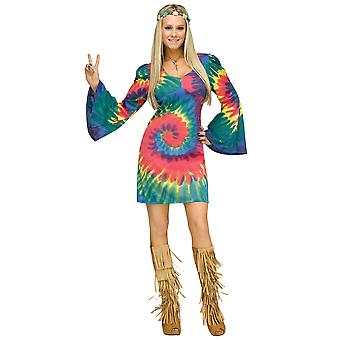 Groovy Gal Hippie hippie 1970s 1960s Flower Power fred barn Retro kvinder kostume