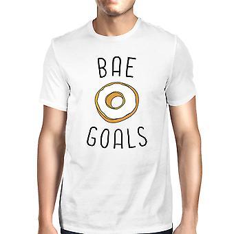 BAE doelen mannen witte T-shirt Trendy Graphic Tee voor zijn verjaardag