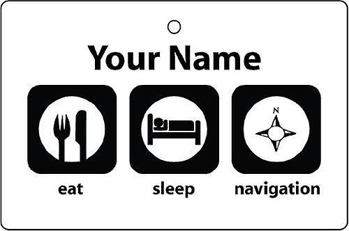 Personalised Eat Sleep Navigation Car Air Freshener