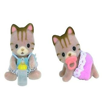 Sylvanian Families Twin cats Stripes