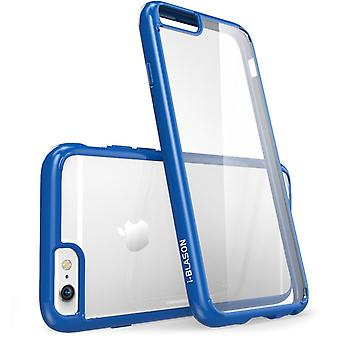 i-Blason-iphone 6, Halo Series Scratch Resistant Transparent Hybrid Case-Clear/Navy