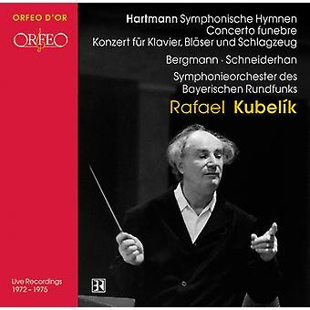 K.a. Hartmann - Hartmann: Symphonische Hymnen; Concerto Funebre; Konzert F R Klavier, Bl Ser Und Schlagzeug [CD] USA import