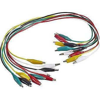 Test lead kit [ Terminals - Terminals] 0.54 m Black, Red, Yellow, Green, Whit