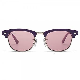 Ray-Ban Junior Clubmaster Sunglasses In Violet On Pink