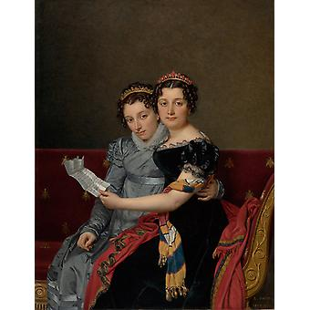 Jacques Louis David - The Sisters Poster Print Giclee