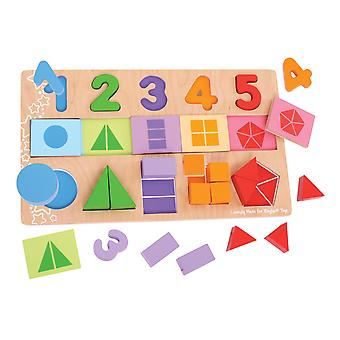Bigjigs Toys My First Wooden Fractions Puzzle