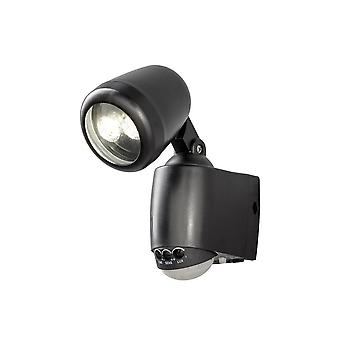 Konstsmide Prato Battery Powered LED Sensor Security Floodlight Black