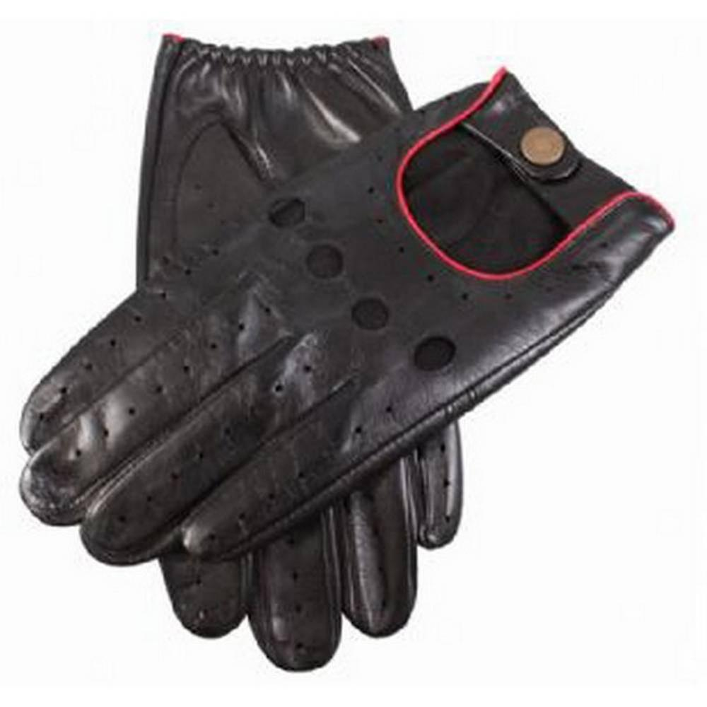 Dents Delta Leder Handschuhe Driving - Red