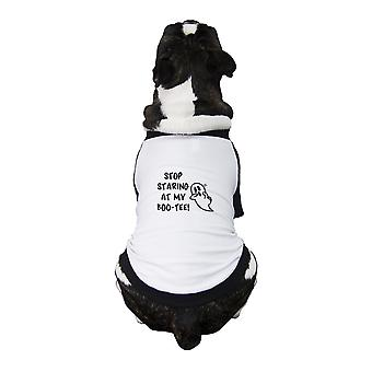 Stop Staring At My Boo Funny Halloween Baseball Tee For Small Pets