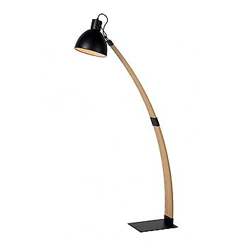 Lucide CURF Floorklamp E27/60W Plywood-Metal Black