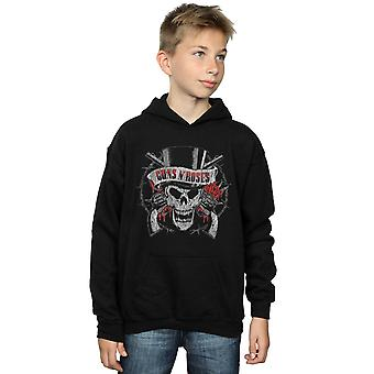 Guns N Roses Boys Distressed Death's Head Hoodie