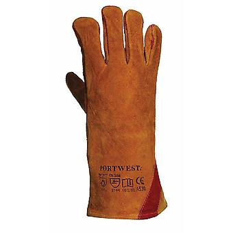 Portwest - Reinforced Welding Gauntlet Glove (1 Pair Pack)