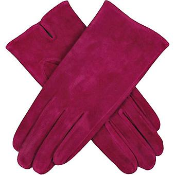 Dents Emily Plain Suede Gloves - Cerise Pink