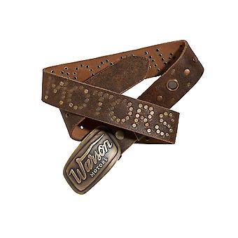 Warson Motors Belt Suede Square Brun Crackle