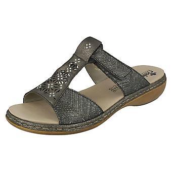 Ladies Rieker Diamante Cut Out Sandal 65950